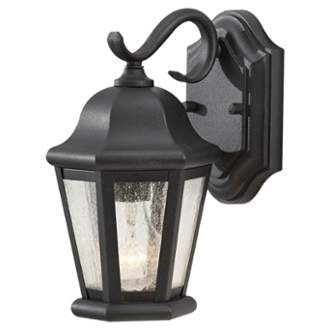 Martinsville 1 Light Outdoor Lantern Wall Sconce | Outdoor Within Brook Black Seeded Glass Outdoor Wall Lanterns With Dusk To Dawn (View 12 of 20)