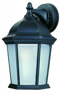 Maxim Lighting 56024ftbk Builder Cast Led E26 1 Light In Rockmeade Black Outdoor Wall Lanterns (View 1 of 20)