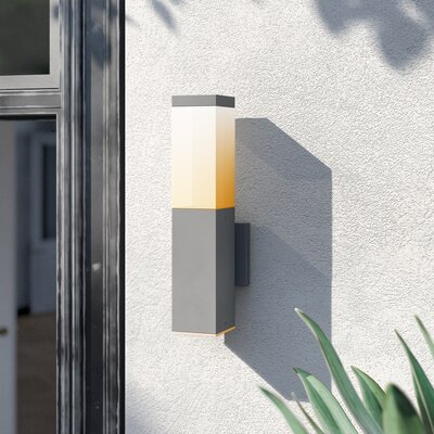Mercury Row® Addilynn Integrated Led Glass Outdoor Armed Within Chazz Integrated Led Outdoor Armed Sconces (View 8 of 20)
