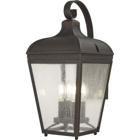 Minka Lavery Marquee 4 Light 21 Inch Oil Rubbed Bronze Throughout Heinemann Rubbed Bronze Seeded Glass Outdoor Wall Lanterns (View 19 of 20)