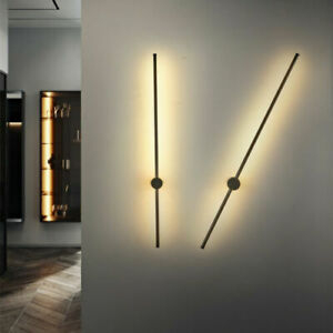 Modern Led Wall Light Long Strip Warm White Wall Linear Throughout Roden Black 3 Bulb Outdoor Wall Lanterns (View 18 of 20)