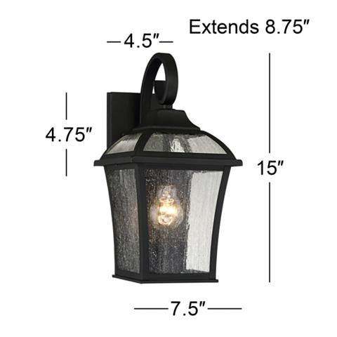 """Mosconi 15"""" High Black Outdoor Wall Lights Set Of 2 Inside Walland Black Outdoor Wall Lanterns (View 13 of 20)"""