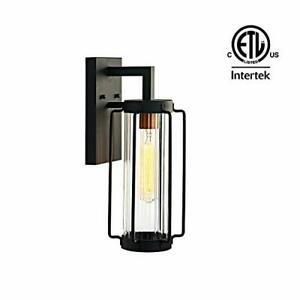 Motini Outdoor Wall Sconce Lantern Modern Exterior Light Inside Borde Black Outdoor Wall Lanterns (View 17 of 20)