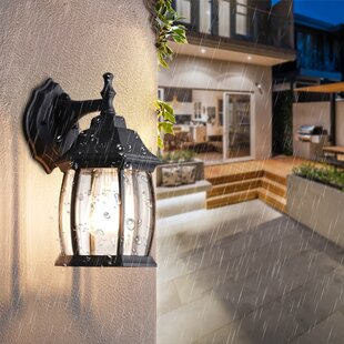 Motion Sensor Outdoor Wall Lighting You'll Love In 2021 Pertaining To Ballina Matte Black Outdoor Wall Lanterns With Dusk To Dawn (View 18 of 20)