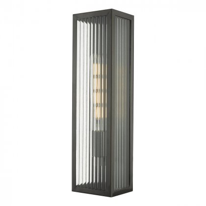 Naxos Wall Light Black Ip43 Inside Cantrall 2 – Bulb Outdoor Armed Sconces (View 11 of 20)