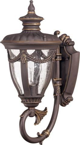 Nuvo Lighting 60 2045 Philippe Collection One Light Inside Payeur Hammered Glass Outdoor Wall Lanterns (View 7 of 20)