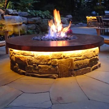 Our Work | Stonepocket Landscaping For Journey Outdoor Wall Lanterns (View 11 of 20)