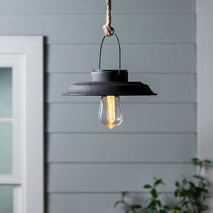 Outdoor Garden Porch Solar Hanging Pendant Light Warm For Feuerstein Black 16'' H Outdoor Wall Lanterns (View 5 of 20)