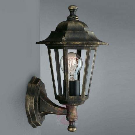 Outdoor Wall Lamp Peking Black/gold Standing | Outdoor Pertaining To Ciotti Black Outdoor Wall Lanterns (View 2 of 20)