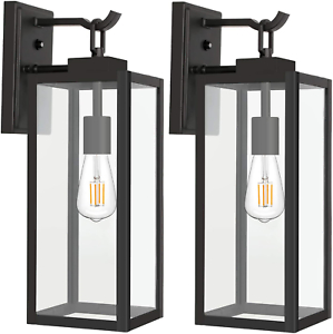 Outdoor Wall Lantern With Dusk To Dawn Photocell, Matte For Brook Black Seeded Glass Outdoor Wall Lanterns With Dusk To Dawn (View 20 of 20)