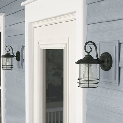 Outdoor Wall Lights & Sconces You'll Love In 2020 | Wayfair Inside Oneal Outdoor Barn Lights (View 12 of 20)