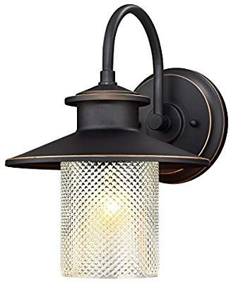 Pin On Front Porch With Regard To Heinemann Rubbed Bronze Seeded Glass Outdoor Wall Lanterns (View 16 of 20)