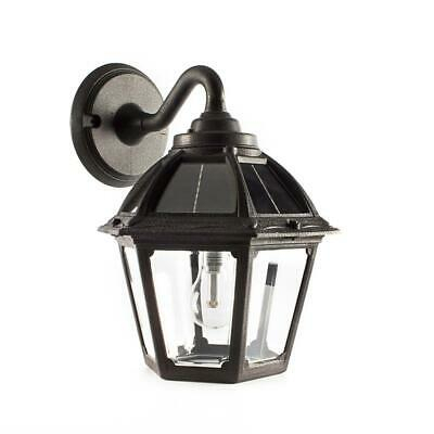Polaris 1 Light Black Solar Led Outdoor Wall Mount Sconce Intended For Brookland Outdoor Wall Lanterns (View 7 of 20)