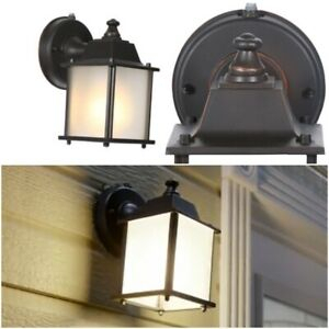 Porch Patio Sconce Outdoor Wall Light Dusk To Dawn Within Rockmeade Black Outdoor Wall Lanterns (View 15 of 20)