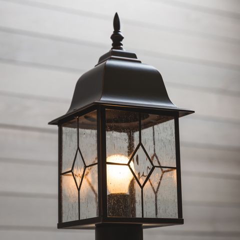 Portfolio Litshire 1 Watt 17 In Oil Rubbed Bronze Inside Heinemann Rubbed Bronze Seeded Glass Outdoor Wall Lanterns (View 20 of 20)
