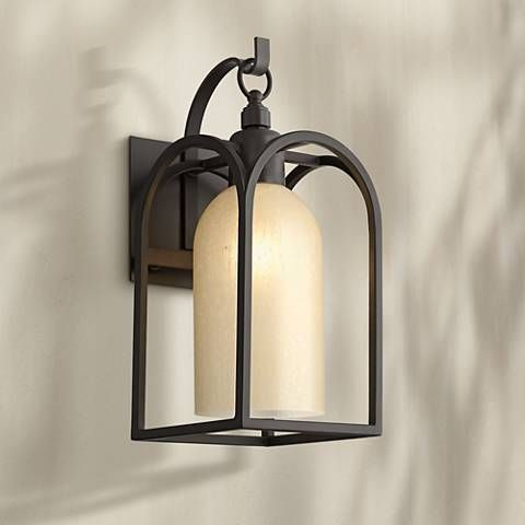 """Possini Euro Anthony 14 3/4"""" High Bronze Outdoor Wall Inside Caroline Outdoor Wall Lanterns (View 15 of 20)"""