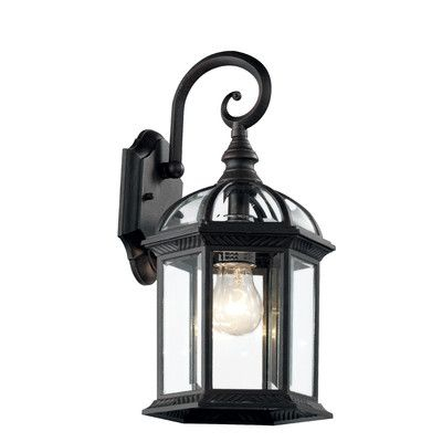 Popular Photo of Powell Beveled Glass Outdoor Wall Lanterns