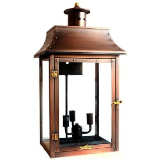 """Primo Lanterns Pl 26e Aged Copper Conti 27"""" Outdoor Wall For Malak Outdoor Wall Lanterns (View 8 of 20)"""