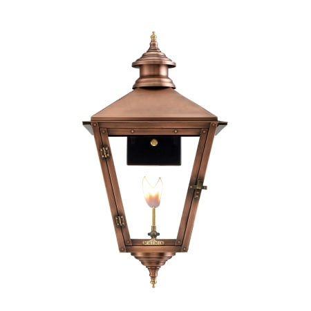 """Primo Lanterns Sv 22g Copper Savannah 20"""" Wide Outdoor With Clarence Black Outdoor Wall Lanterns (View 12 of 20)"""