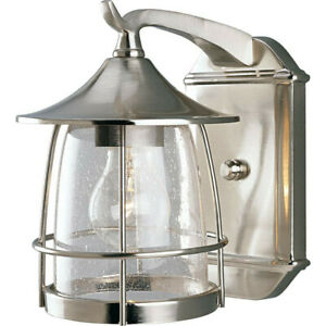 Progress Lighting 1 Light Outdoor Wall Lantern Brushed In Payeur Hammered Glass Outdoor Wall Lanterns (View 15 of 20)