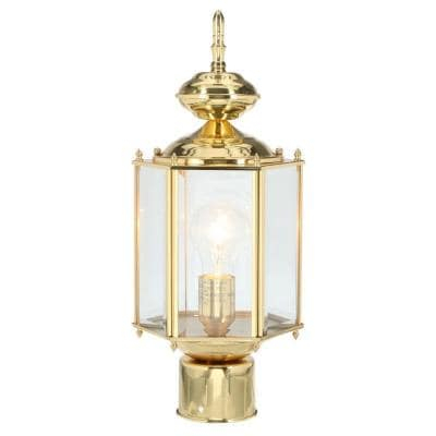 Progress Lighting Brassguard Lantern Collection 1 Light Intended For Powell Beveled Glass Outdoor Wall Lanterns (View 12 of 20)
