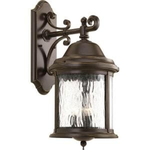Progress Lighting Crawford Collection 2 Light Oil Rubbed Within Verne Oil Rubbed Bronze Beveled Glass Outdoor Wall Lanterns (View 2 of 20)