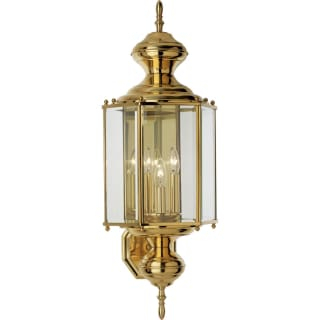 Progress Lighting P5730 10 Polished Brass Brass Guard 3 Within Gillian 3 – Bulb Beveled Glass Outdoor Wall Lanterns (View 5 of 20)