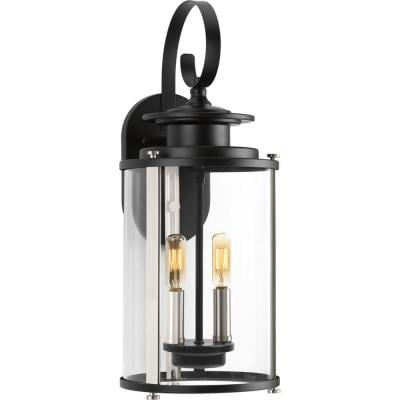 Progress Lighting Squire Collection 3 Light Matte Black Within Keiki Matte Black Outdoor Wall Lanterns (View 9 of 20)