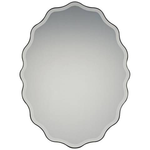 """Quoizel Artiste Earth Black 30 1/4"""" X 40"""" Wall Mirror Intended For Ainsworth Earth Black Outdoor Wall Lanterns (View 12 of 20)"""