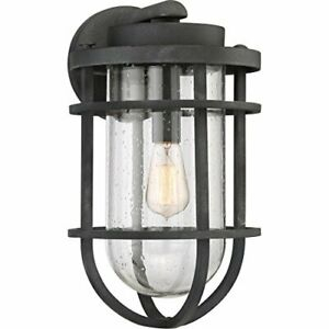 Quoizel One Light Outdoor Wall Lantern Brd8410mb, Large Intended For Socorro Black Outdoor Wall Lanterns (View 14 of 20)
