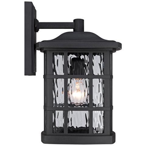 "Quoizel Stonington 15 1/2""h Matte Black Outdoor Wall Light Intended For Binegar Matte Black Outdoor Wall Lanterns (View 3 of 20)"