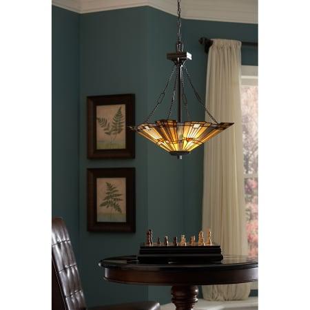 Quoizel Tfik2817va Valiant Bronze Inglenook 3 Light Bowl Regarding Gillian 3 – Bulb Beveled Glass Outdoor Wall Lanterns (View 6 of 20)