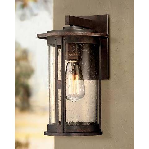 """Ridgeland 13 1/2"""" High Bronze Outdoor Wall Light – #3h648 Inside Chicopee 2 – Bulb Glass Outdoor Wall Lanterns (View 3 of 20)"""