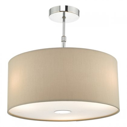 Ronda 60cm 3 Light Pendant Ecru C/w Diffuser With Cantrall 2 – Bulb Outdoor Armed Sconces (View 19 of 20)