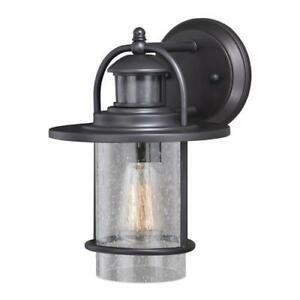 Rubbed Bronze Outdoor Wall Light Motion Sensor Security With Regard To Brierly Oil Rubbed Bronze/black Outdoor Wall Lanterns (View 13 of 20)