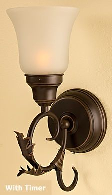 Rubbed Oil Bronze Battery Wall Sconce With Timer – Buy Now Within Brierly Oil Rubbed Bronze/black Outdoor Wall Lanterns (View 17 of 20)