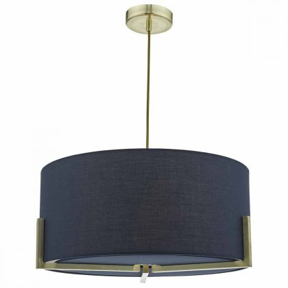 Santino Pendant Satin Chrome C/w Grey Faux Silk Shade Within Cantrall 2 – Bulb Outdoor Armed Sconces (View 10 of 20)