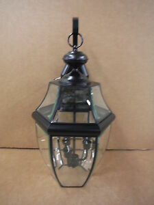 Sea Gull Lighting Outdoor Wall Lantern 3 Light Lancaster For Clarence Black Outdoor Wall Lanterns (View 10 of 20)