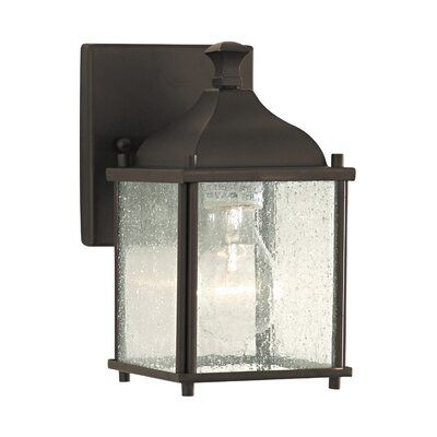 Sea Gull Lighting Terrace Outdoor Wall Lantern | Outdoor Pertaining To Palma Black/clear Seeded Glass Outdoor Wall Lanterns (View 10 of 20)