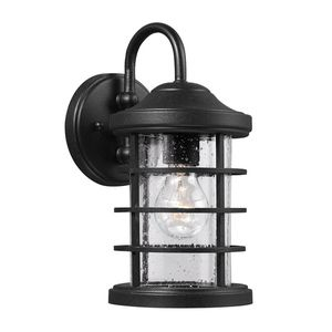 Sea Gull S852440112 Sauganash Entrance Outdoor Wall Light Throughout Socorro Black Outdoor Wall Lanterns (View 12 of 20)