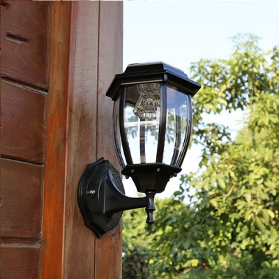 Seductive Black 11'' High Cheap Small Outdoor Solar Led Throughout Roden Black 3 Bulb Outdoor Wall Lanterns (View 11 of 20)