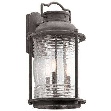 Seeded Glass Jar Oversized Outdoor Sconce | Outdoor In Heinemann Rubbed Bronze Seeded Glass Outdoor Wall Lanterns (View 17 of 20)