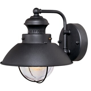 Shop Harwich Black Motion Sensor Dusk To Dawn Coastal Inside Clarisa Seeded Glass Outdoor Barn Lights With Dusk To Dawn (View 8 of 20)