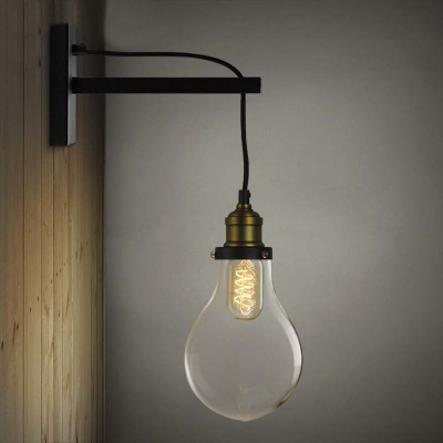 Simple Edison Bulb Style 1 Light Indoor Hallway Led Wall Inside Roden Black 3 Bulb Outdoor Wall Lanterns (View 3 of 20)