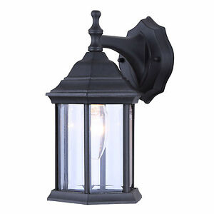 Single Bulb Exterior Wall Lantern Light Fixture Sconce Within Armanno Matte Black Wall Lanterns (View 3 of 20)