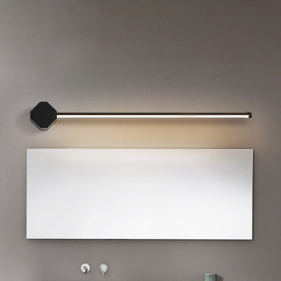 Slim Linear Wall Sconce Simple Acrylic Bathroom Led Vanity For Feuerstein Black 16'' H Outdoor Wall Lanterns (View 17 of 20)