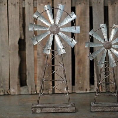 Small Distressed Metal Windmill Table Decor – Foreside Inside Abernethy Outdoor Wall Lanterns (View 20 of 20)