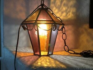 Stained Glass~outdoor Lantern~hanging Octagonal~ Lamp Regarding Wrentham Beveled Glass Outdoor Wall Lanterns (View 17 of 20)
