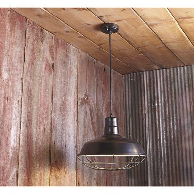 Strongway Hanging Pendant Outdoor/indoor Barn Light 16in Inside Aleena Outdoor Barn Lights (View 18 of 20)