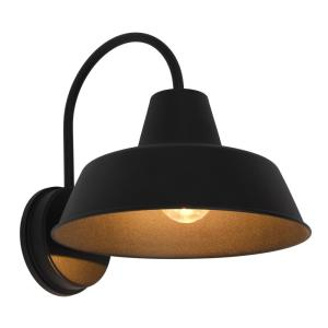 Sylvania Weymouth 1 Light Antique Black Outdoor Wall Mount In Rickey Black Outdoor Barn Lights (View 13 of 20)